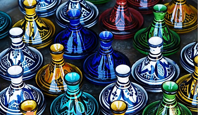 Candlesticks for sale at a craft market in Israel.