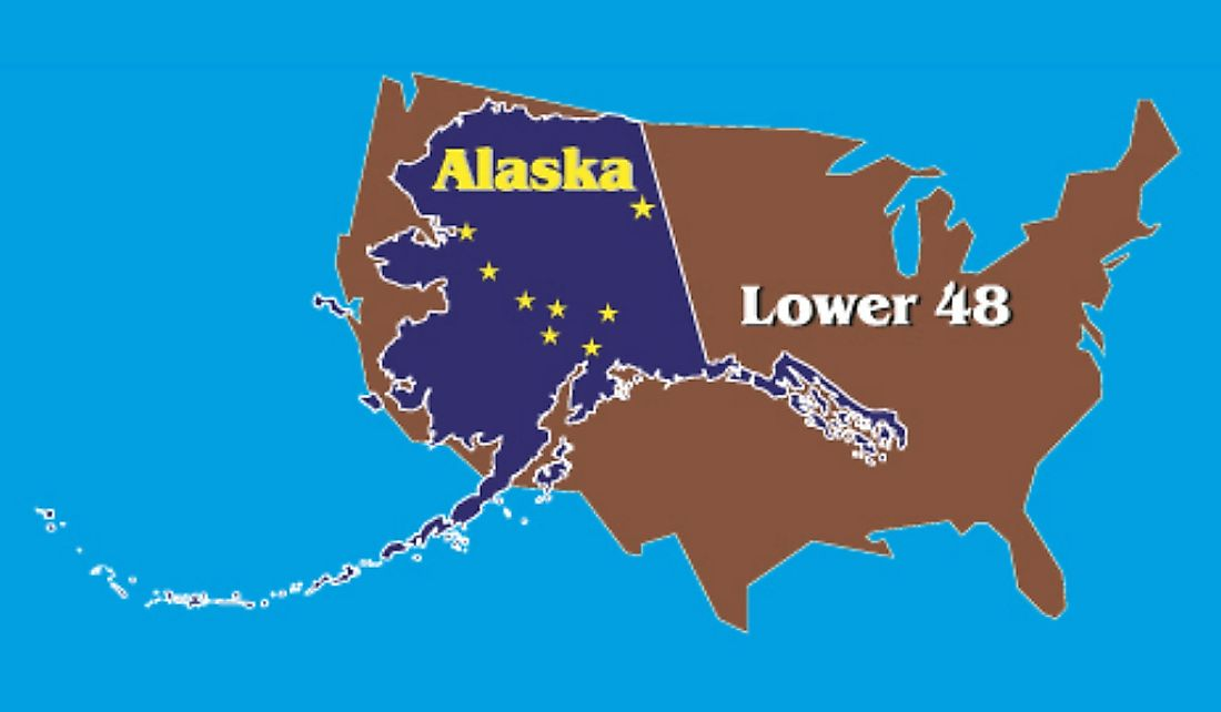 Alaska is larger than the 22 smallest US states combined.