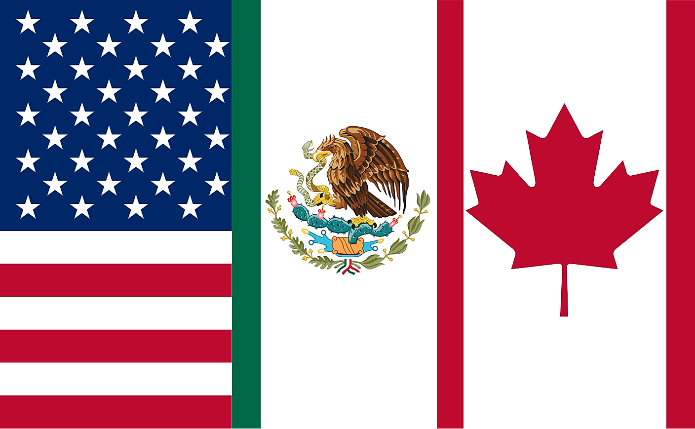 Flag of the North American Free Trade Agreement (NAFTA)