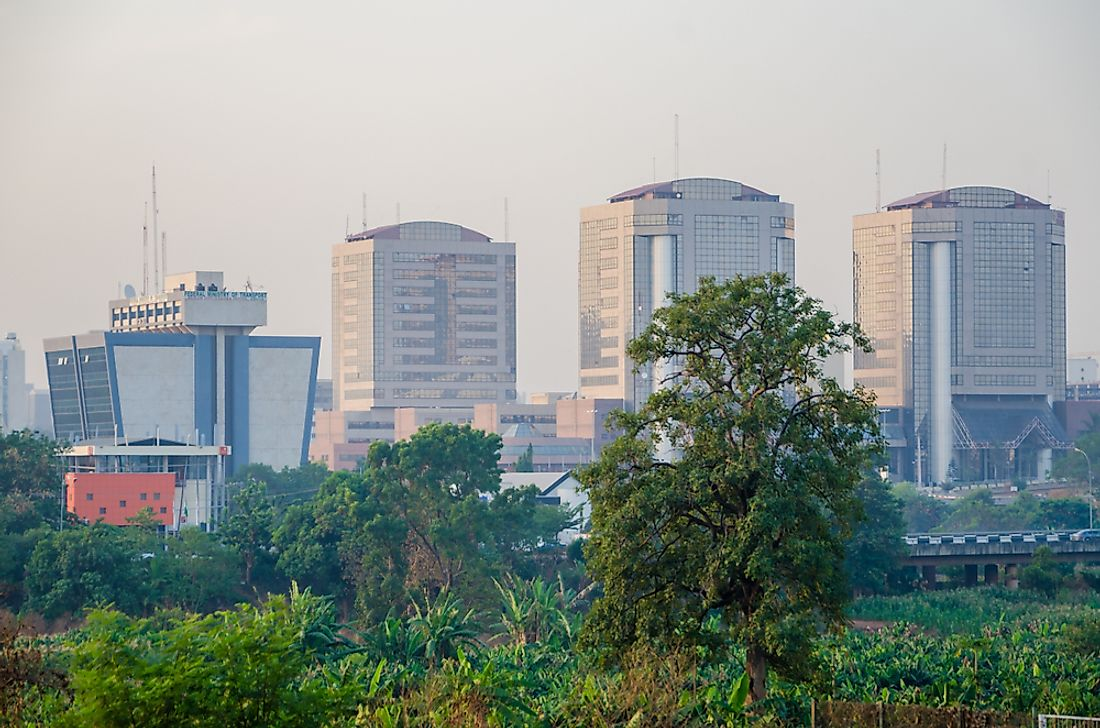Federal Ministry buildings in Abuja, Nigeria. Editorial credit: Fabian Plock / Shutterstock.com.