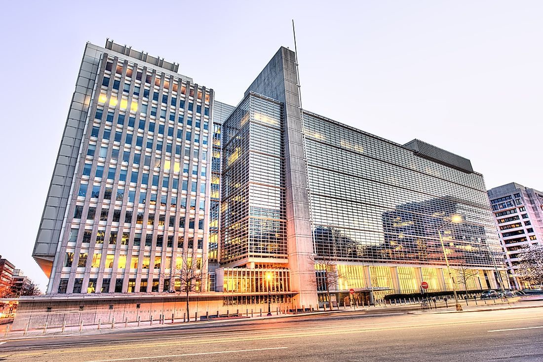 The World Bank Group Headquarters in Washington, DC. Editorial credit: Andriy Blokhin / Shutterstock.com.