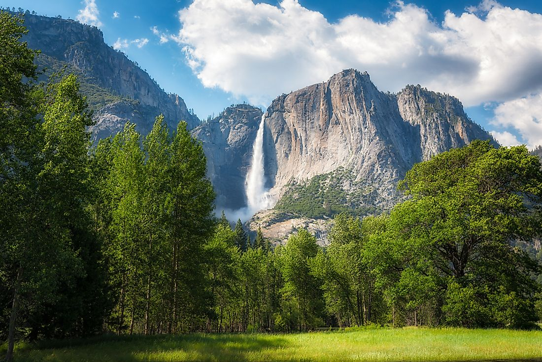 Yosemite Falls, one of the highest waterfalls in the United States.