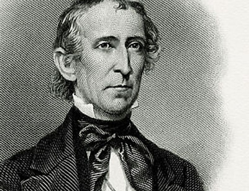 A portrait of John Tyler while serving in the office of U.S. President.