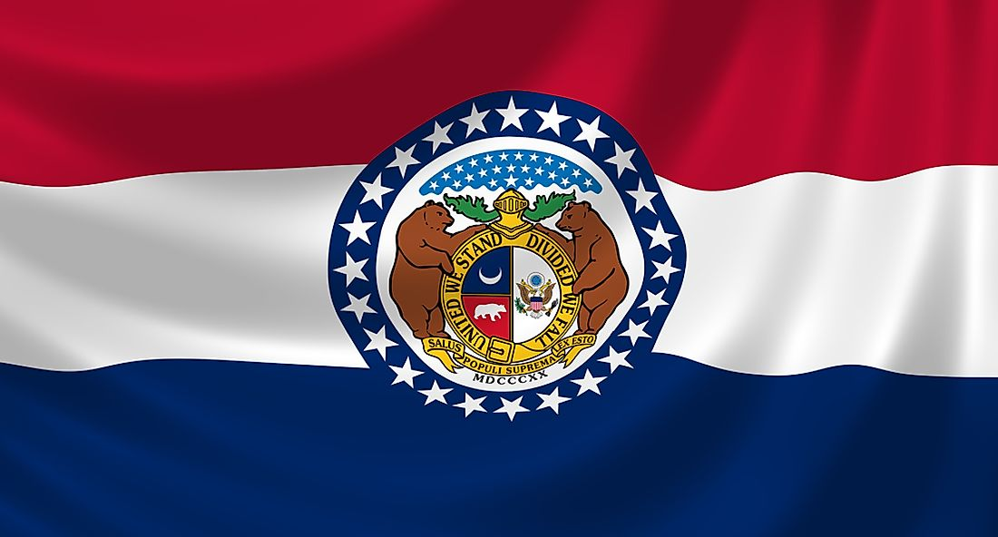 The twenty four stars surrounding the seal signifies Missouri's admission into the Union as the 24th state.
