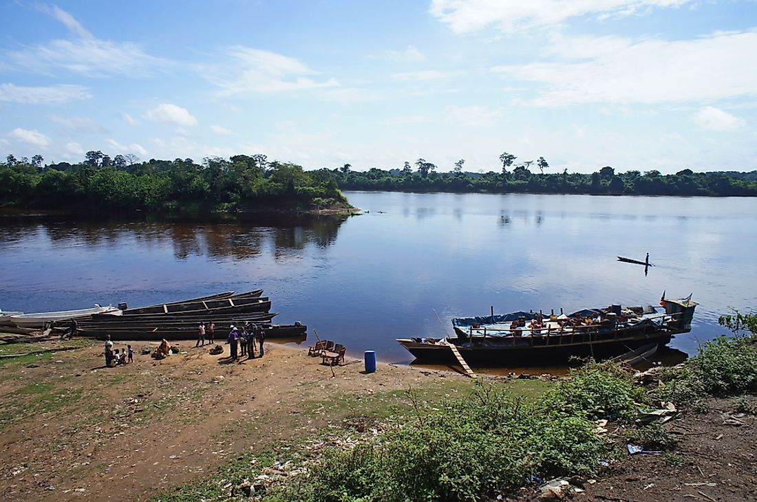 The Congo River passes through Cameroon, and is the world's second largest.