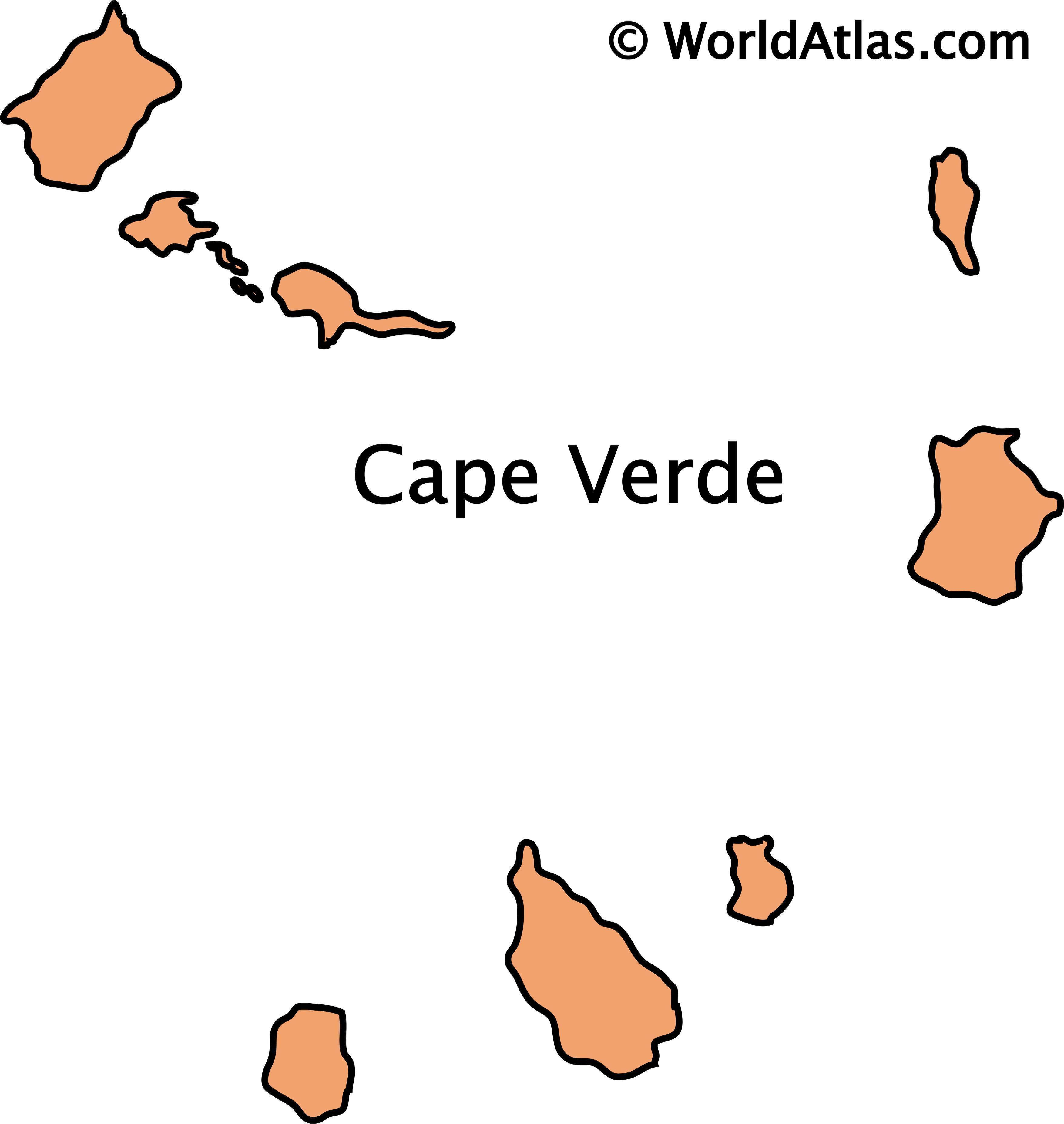 Outline map of Cape Verde