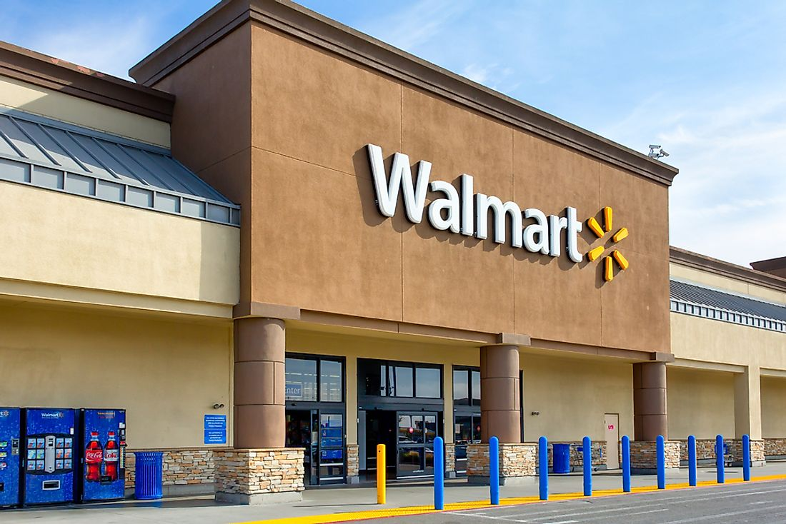Walmart is the largest private employer and the third-largest employer in the world. Editorial credit: Ken Wolter / Shutterstock.com