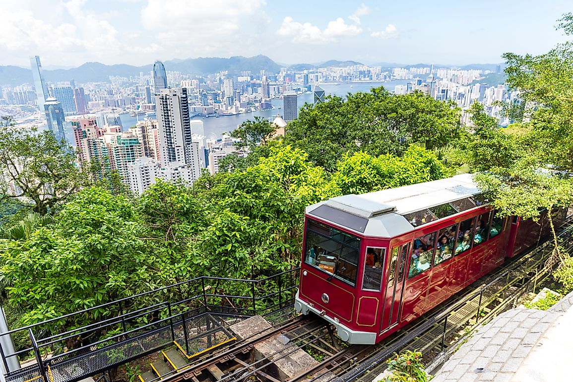 Tourist Train, Above Hong Kong, SAR, China