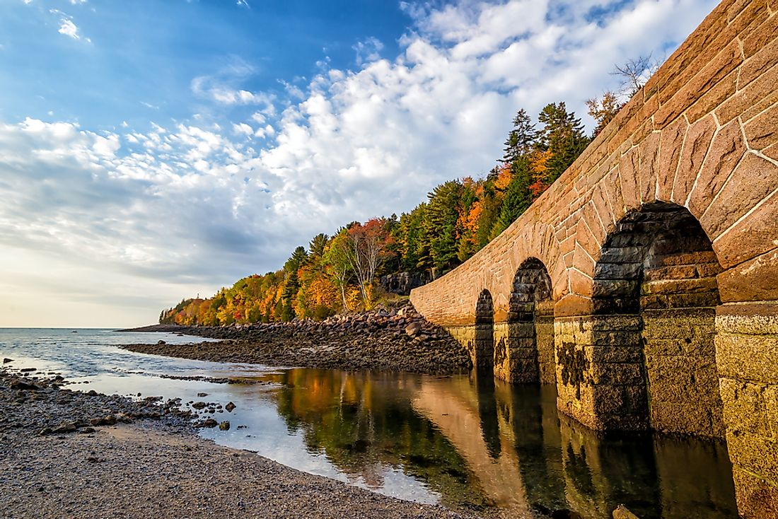 Acadia National Park, along the Atlantic coast of Maine, US.