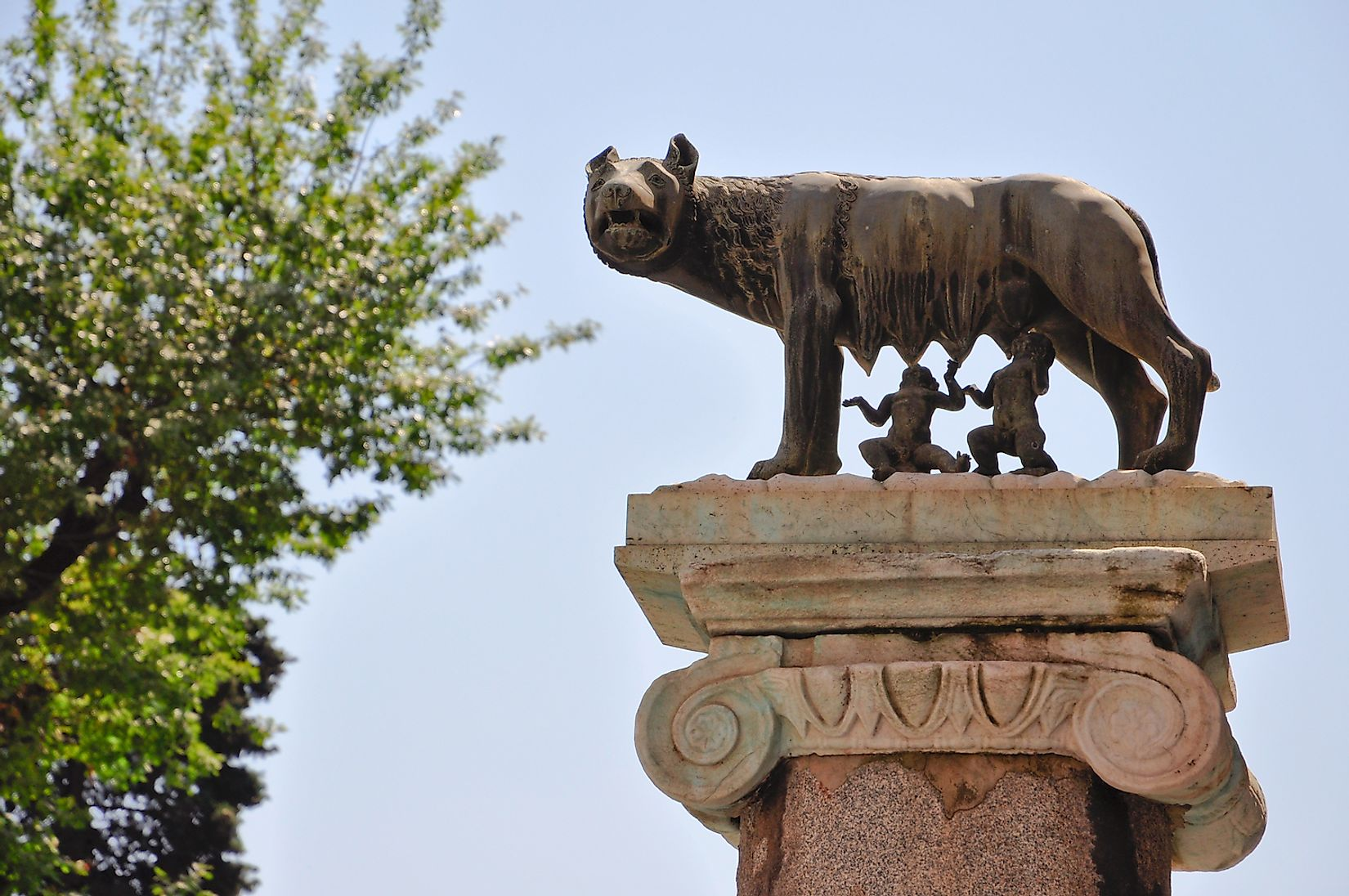 Romulus and Remus and the she-wolf. Image credit: Astridlike/Shutterstock.com