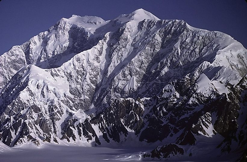 Yukon's Mount Logan viewed from the southeast side. Photo taken by the US National Oceanic and Atmospheric Administration (NOAA).