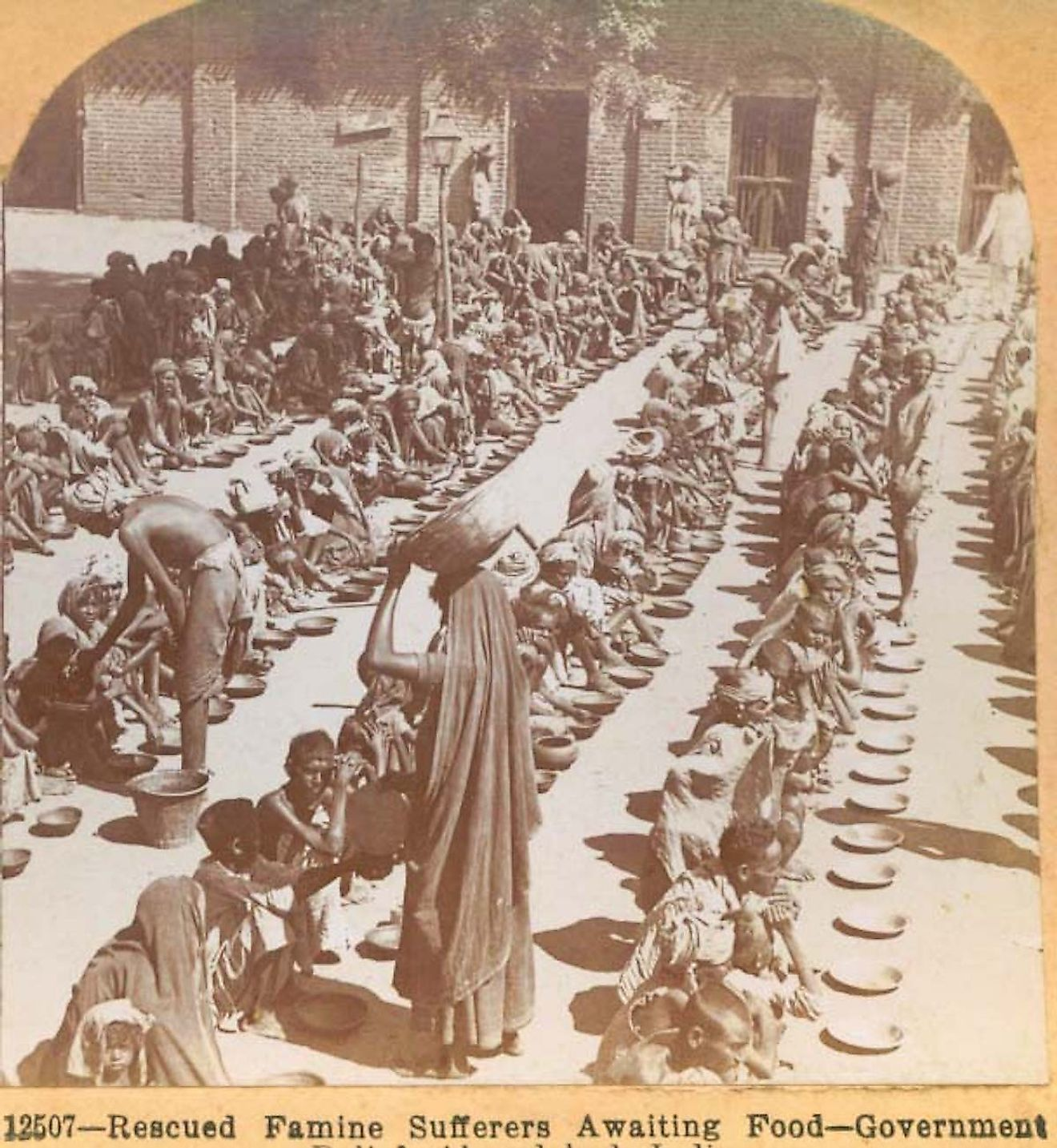 Government famine relief, c. 1901, Ahmedabad