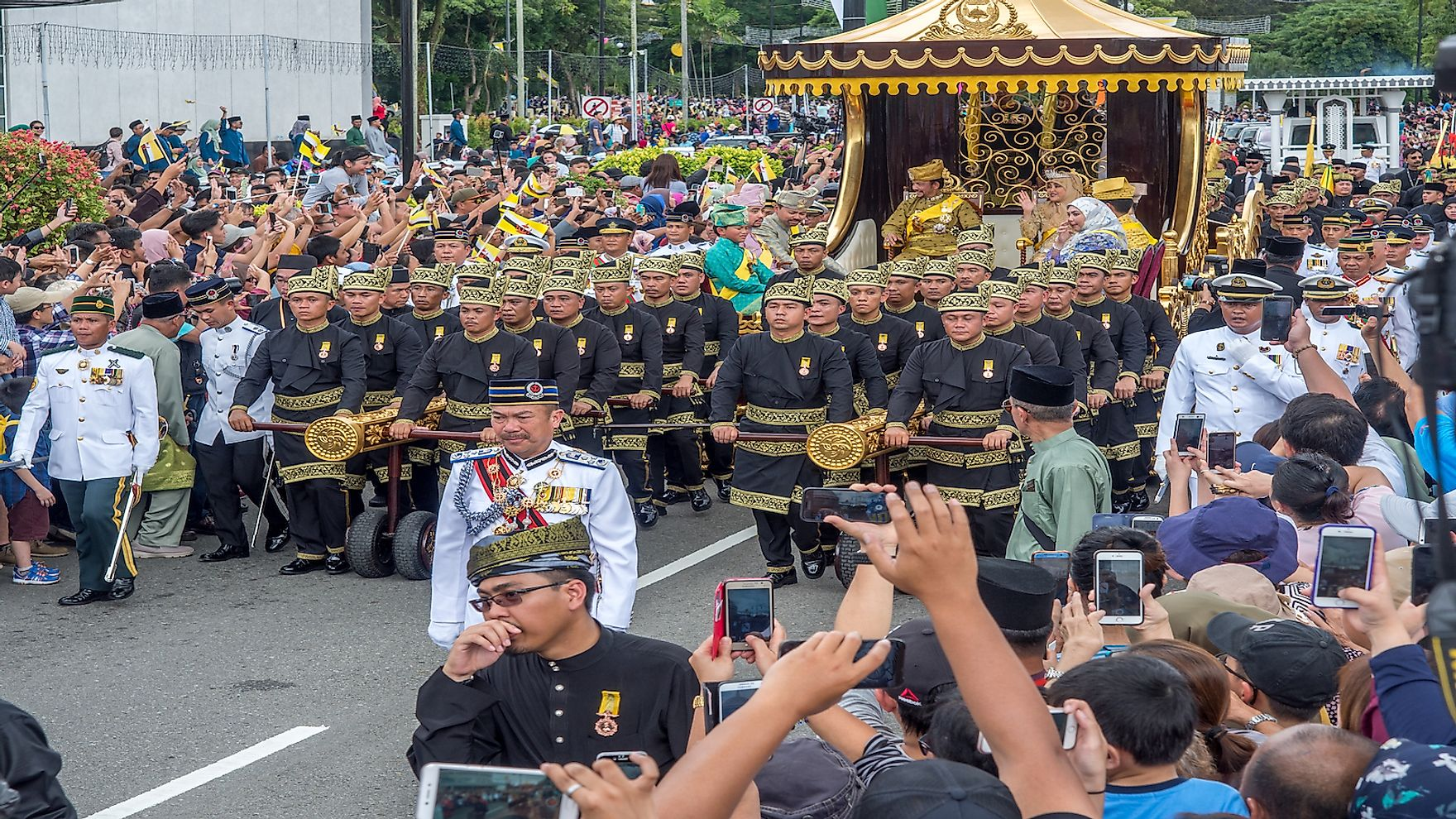 Brunei's Sultan marked 50 years on the throne with a glittering procession. Editorial credit: james wk / Shutterstock.com