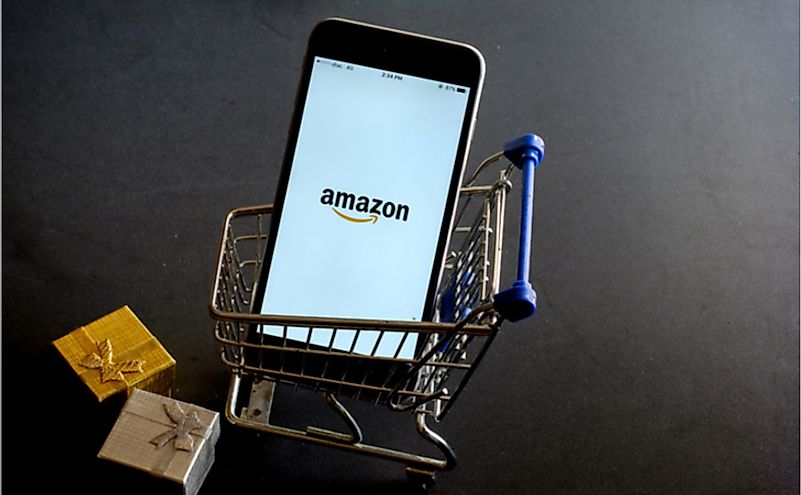 Amazon is one of America's big four technology companies. Editorial credit: mirtmirt / Shutterstock.com