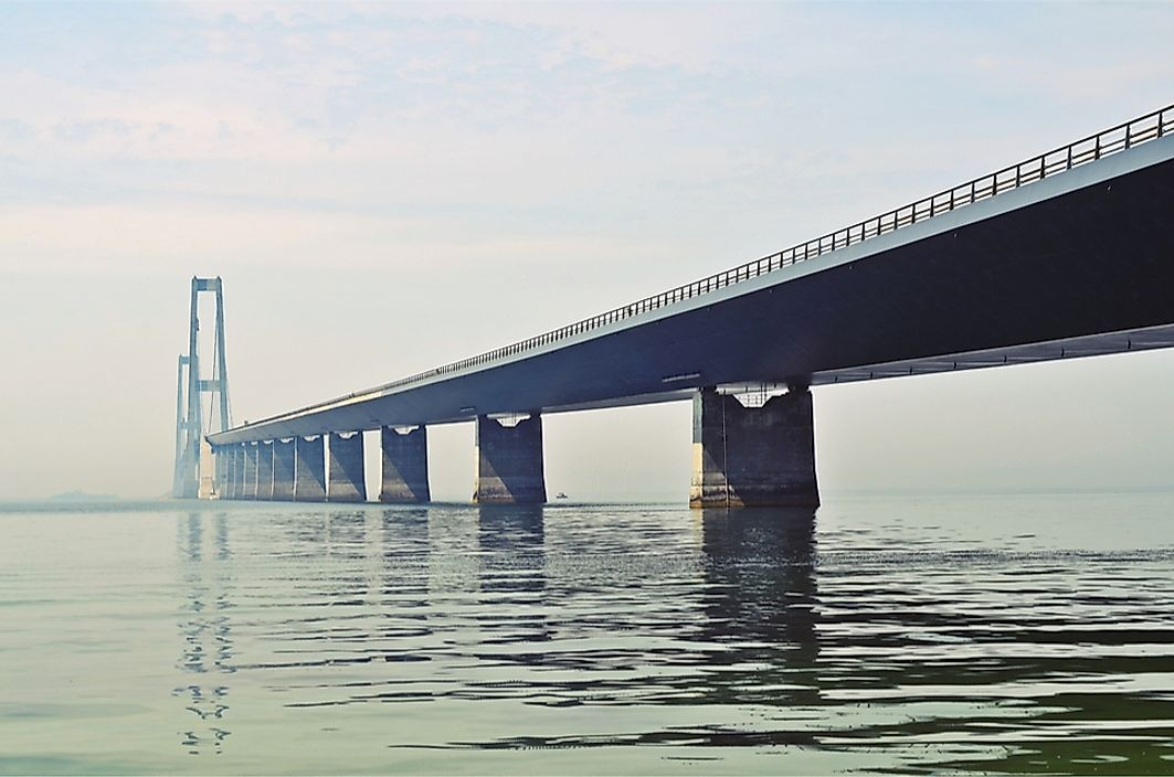 The Great Belt Bridge connects Zealand and Funen, two of Denmark's largest islands.