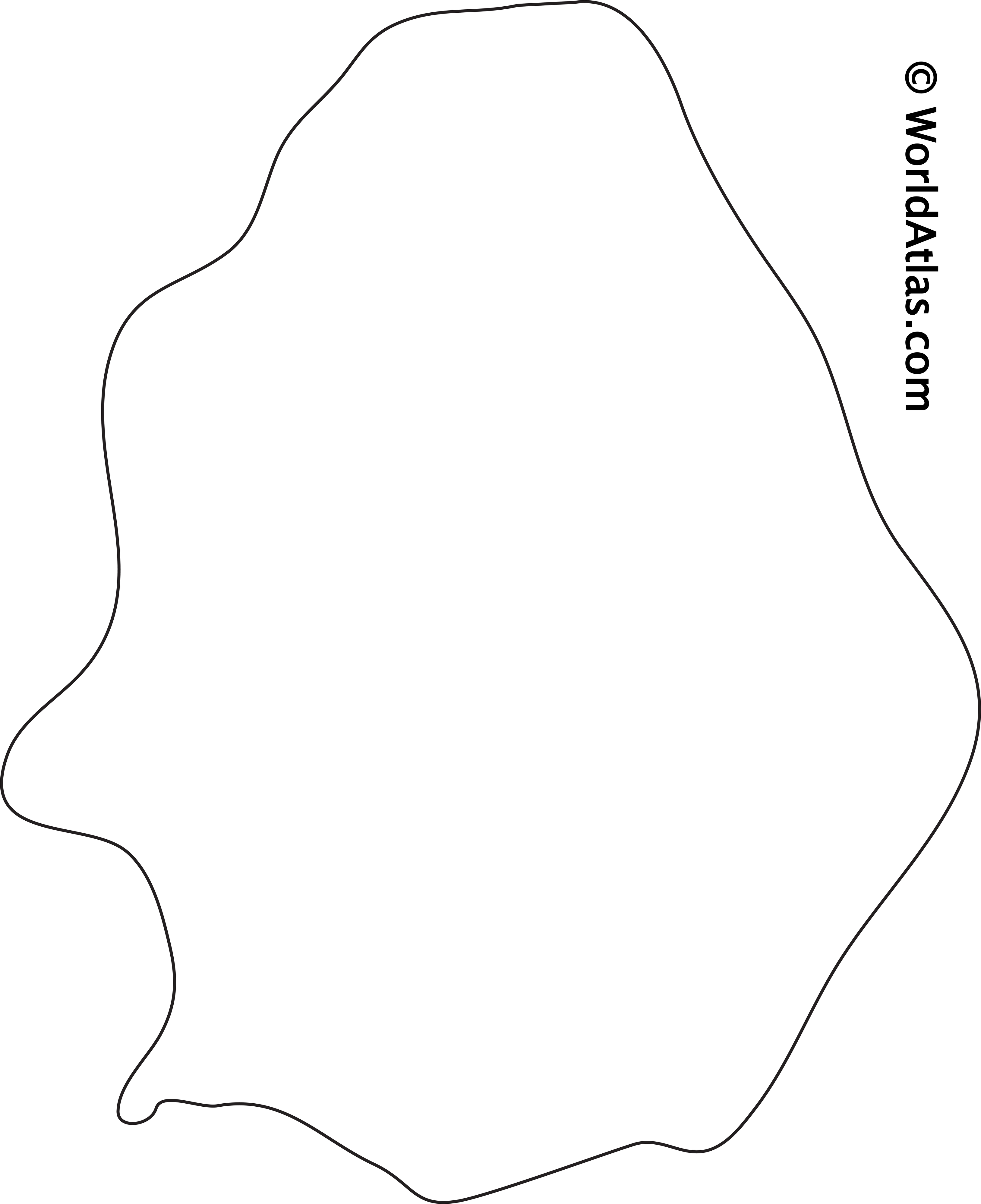 Blank Outline Map of Niue