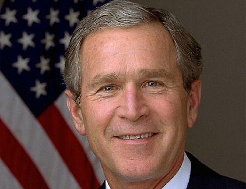 #10 George W. Bush
