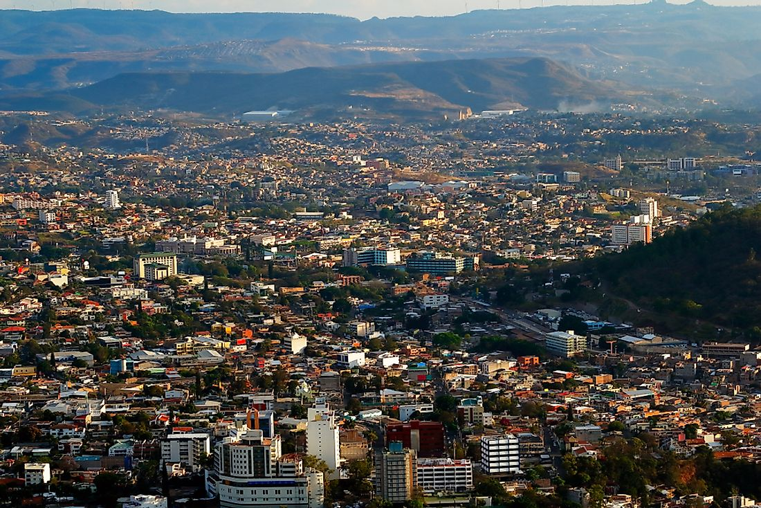 A view of downtown Tegucigalpa.