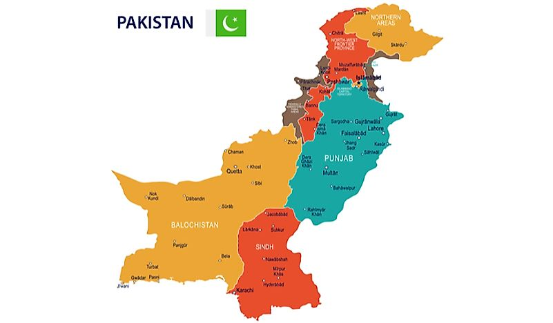 Map of Pakistan divisions.