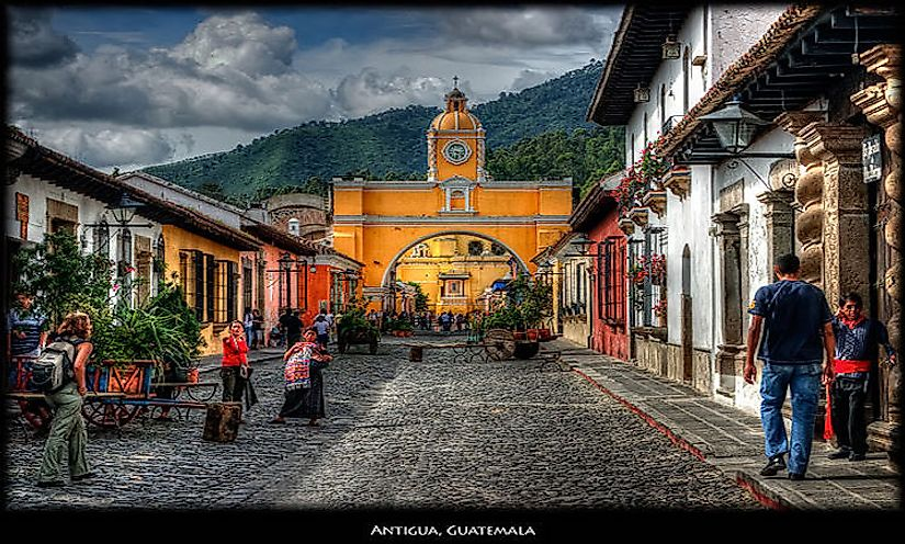 Colonial monuments of Antigua in Guatemala attracts many of tourists to the country.