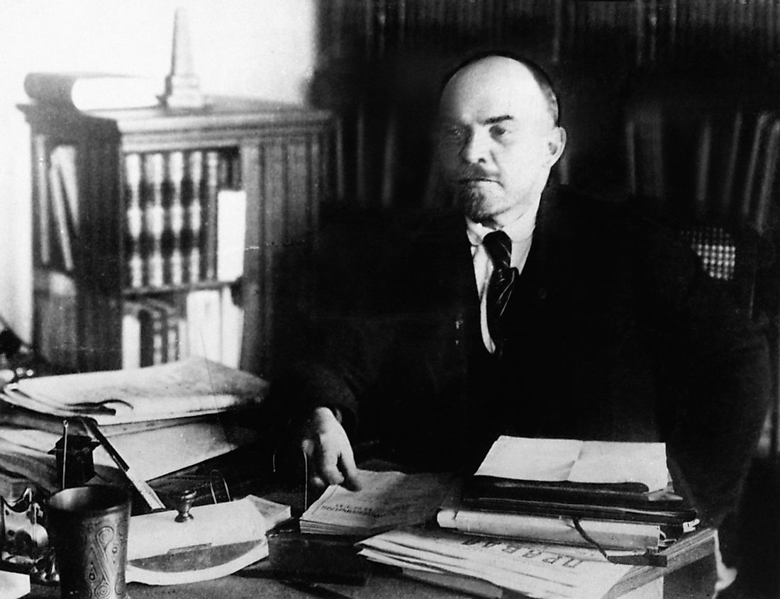 Vladimir Lenin, who is said to have popularized political vanguardism.