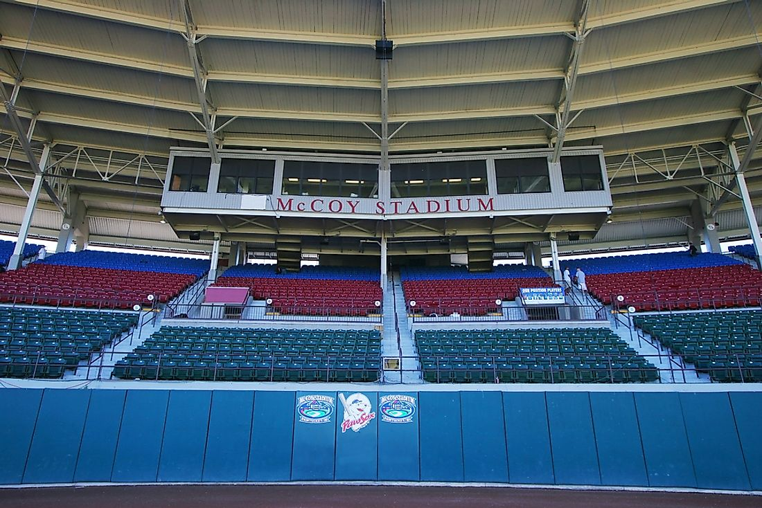 McCoy Stadium, where the world's longest baseball game ever took place. Photo credit: Joy Brown / Shutterstock.com.