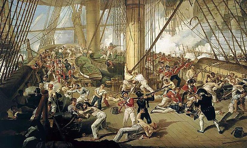 #2 Battle of Trafalgar (October of 1805) -