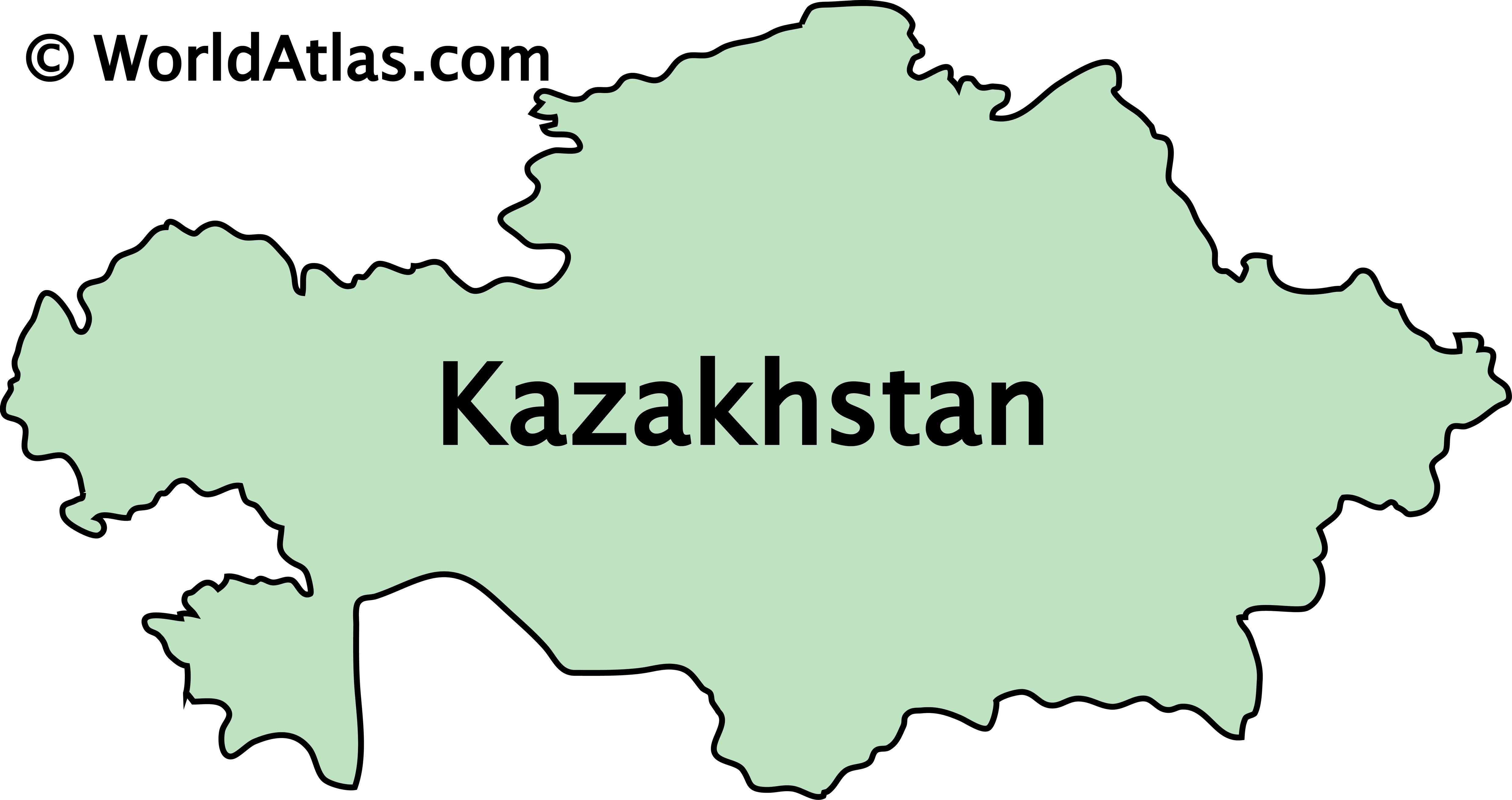 Outline Map of Kazakhstan