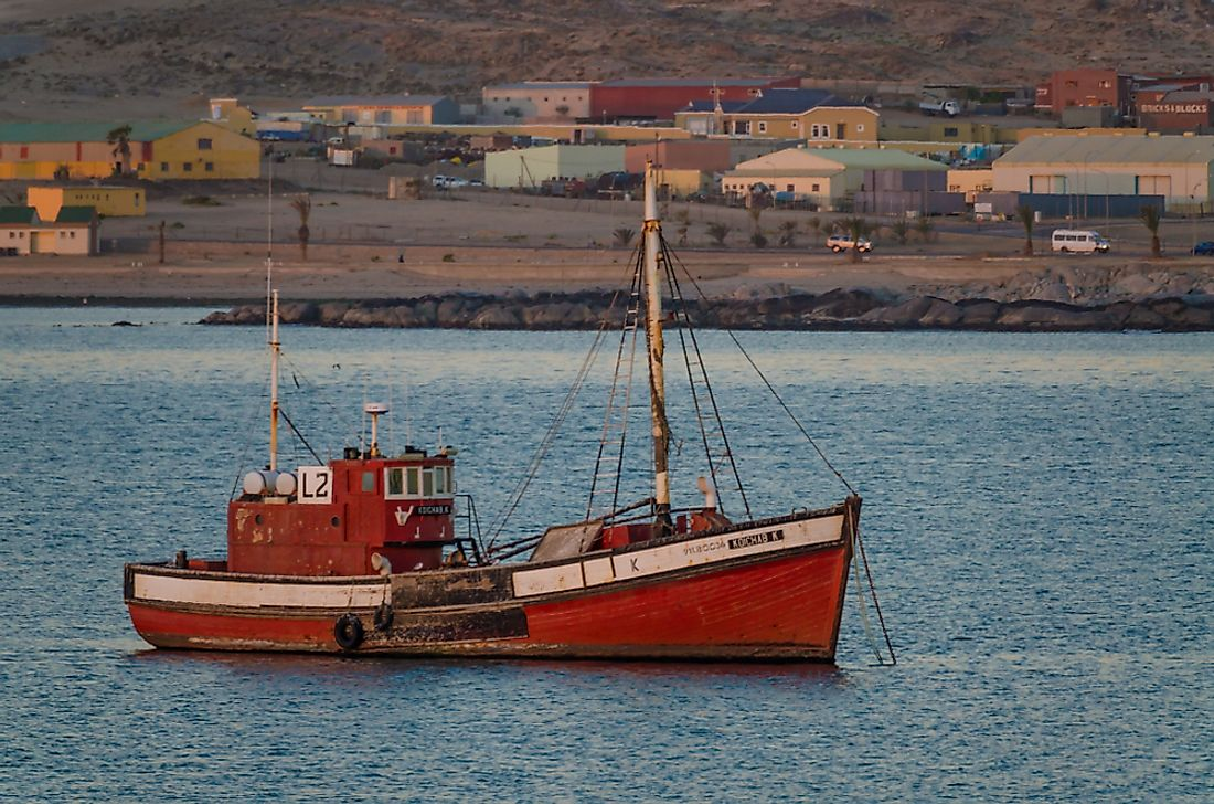 The fishing industry is the fastest growing sector in Namibia. Editorial credit: Fabian Plock / Shutterstock.com