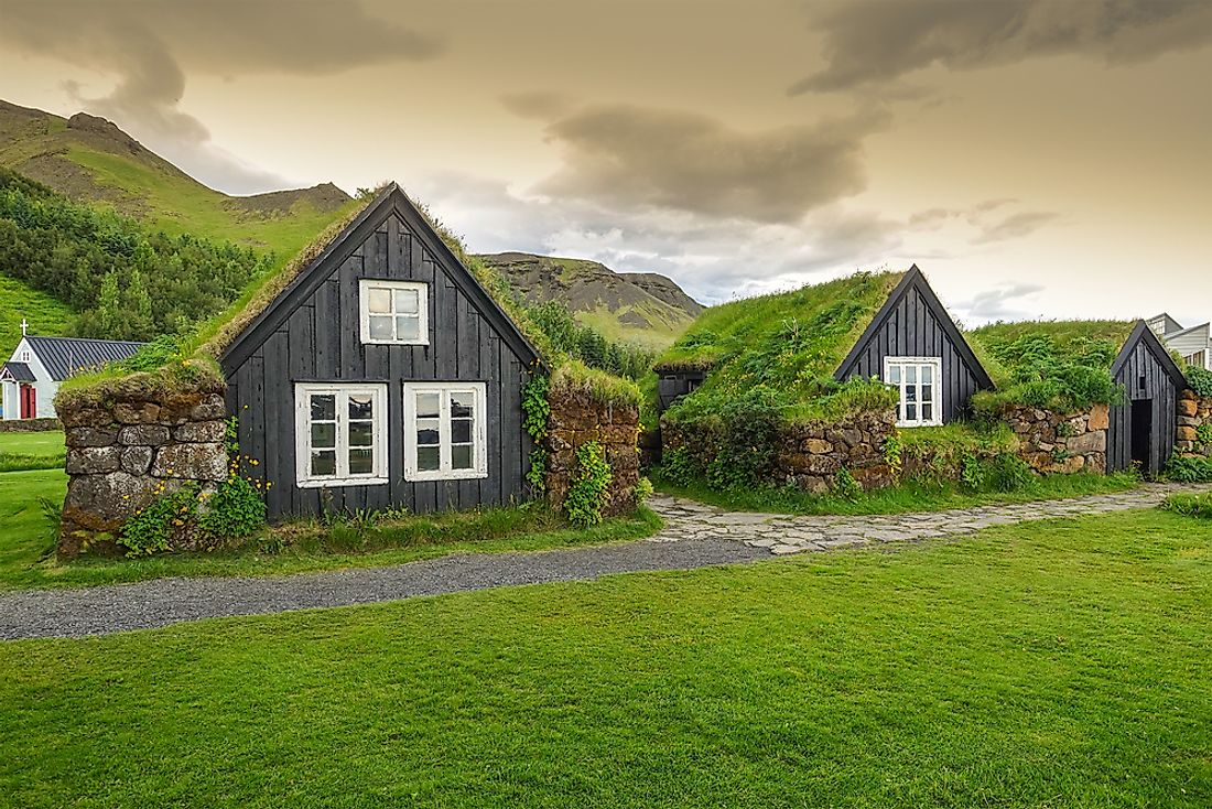 Traditional Icelandic houses, Iceland.