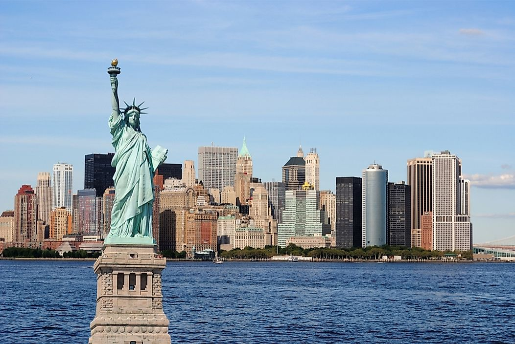 How Tall Is The Statue Of Liberty Worldatlas Com