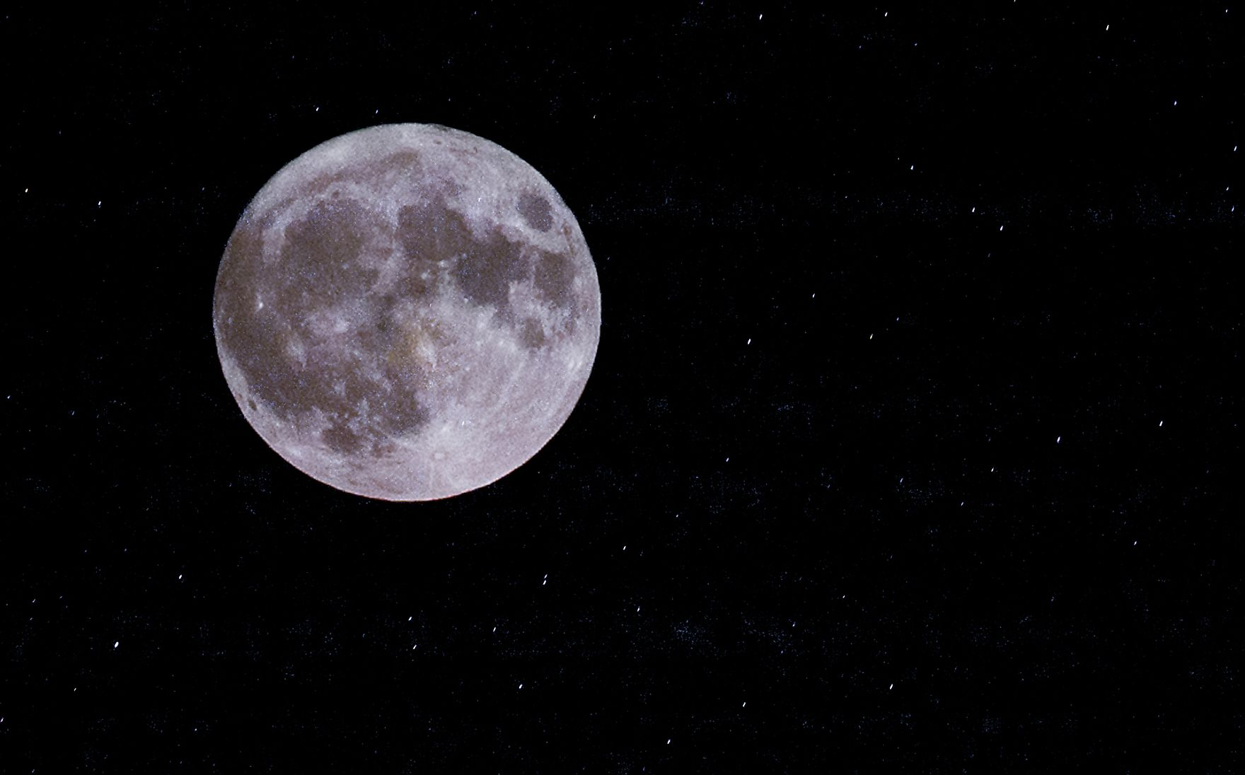 "A full moon in January is called a ""wolf moon""."