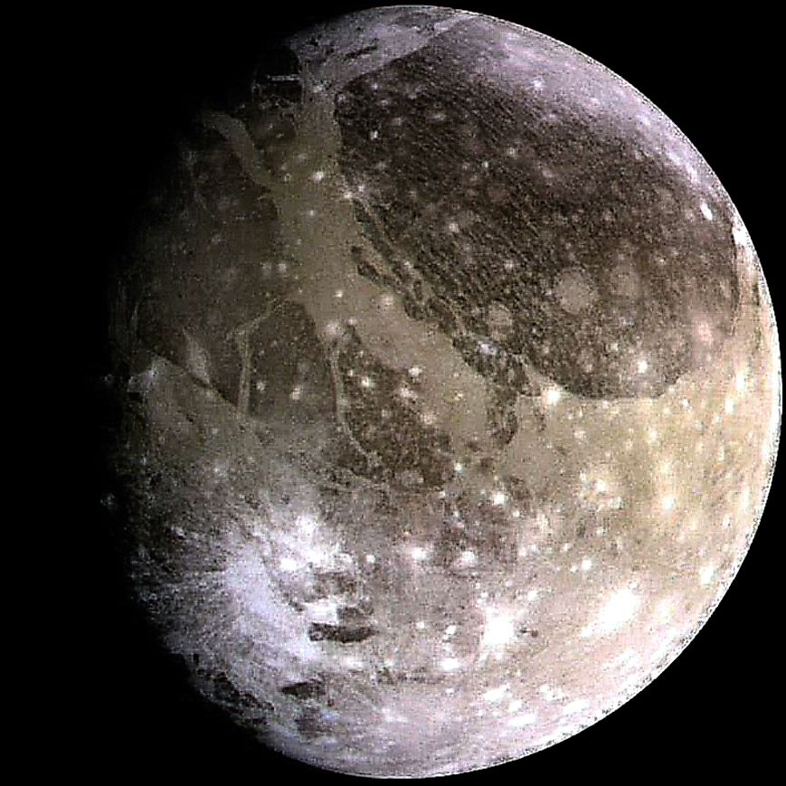 Ganymede is the biggest moon in the Solar System