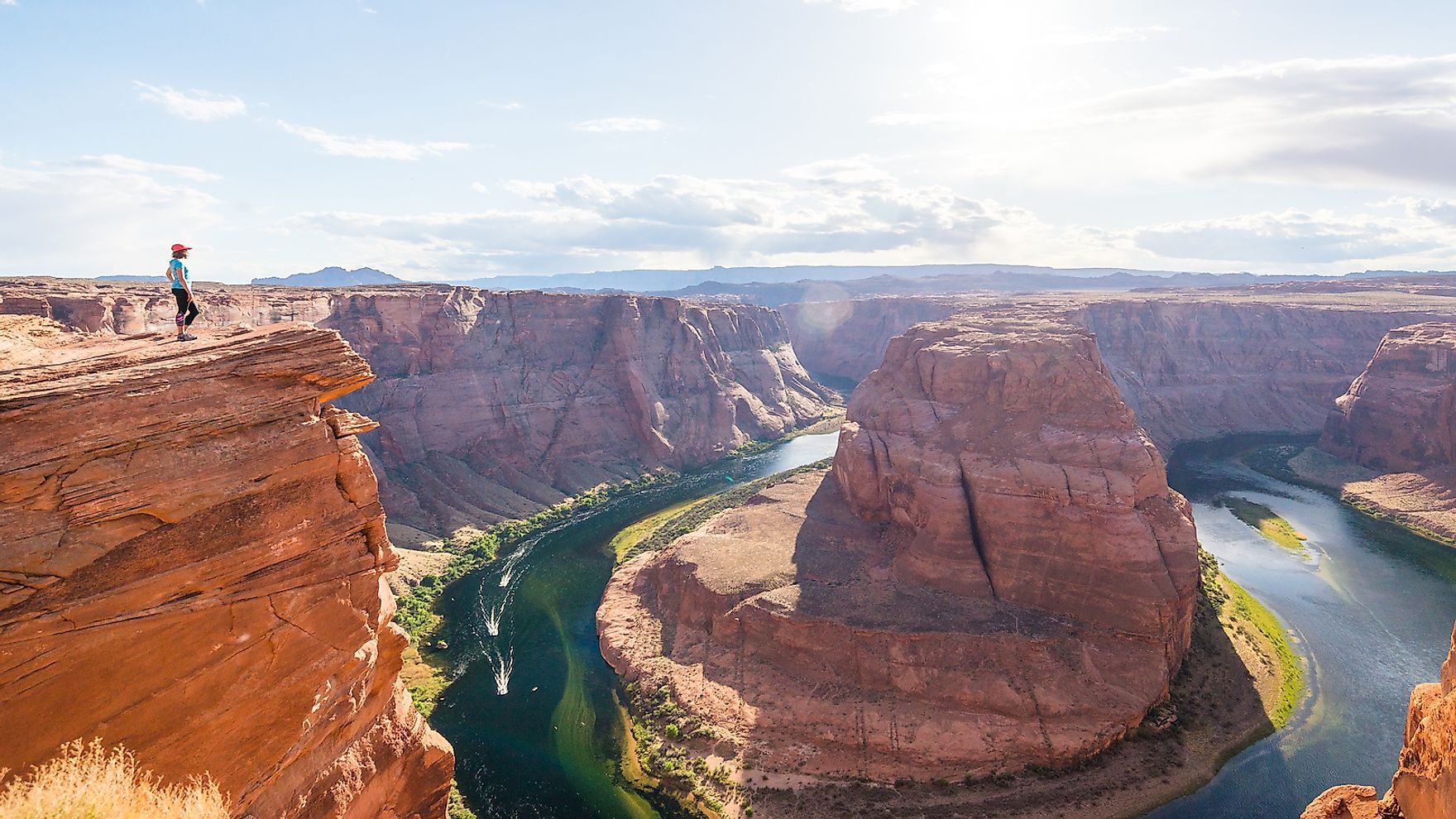The Grand Canyon National Park is famous for its astounding landscapes.