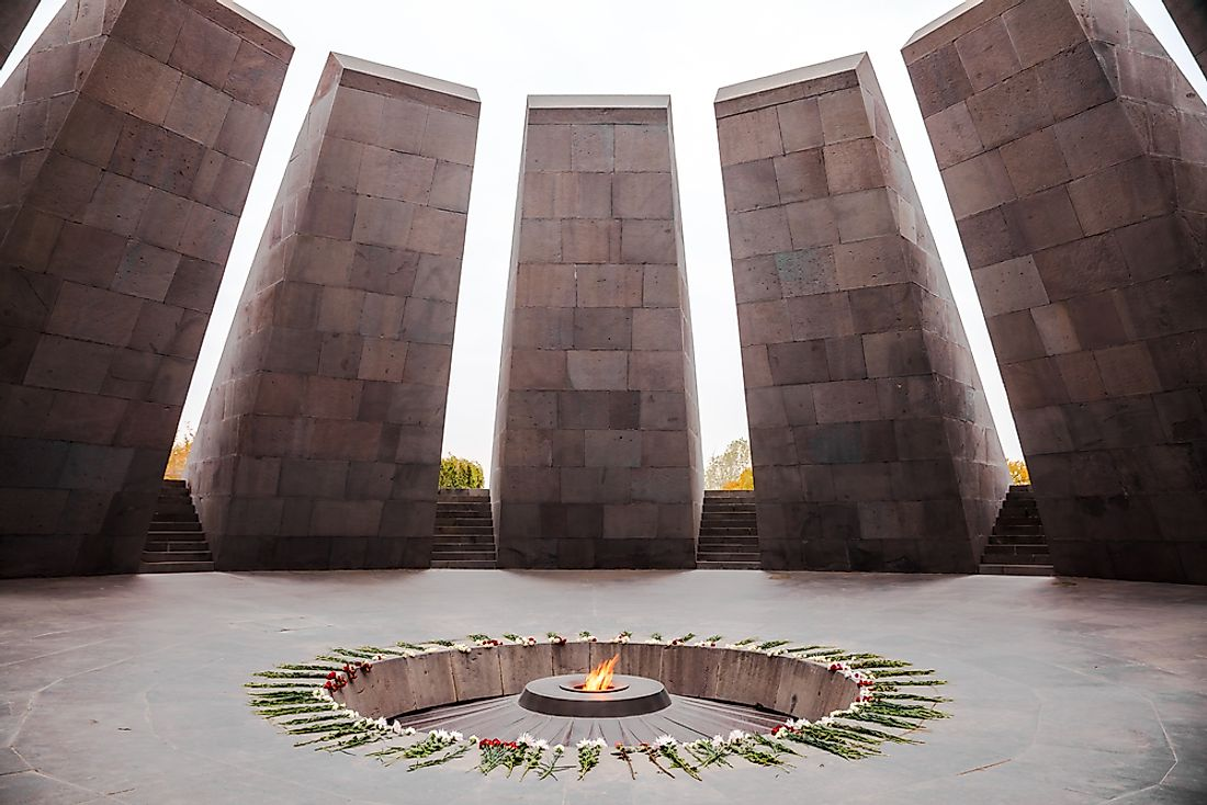 The official Armenian Genocide Memorial in Armenia.