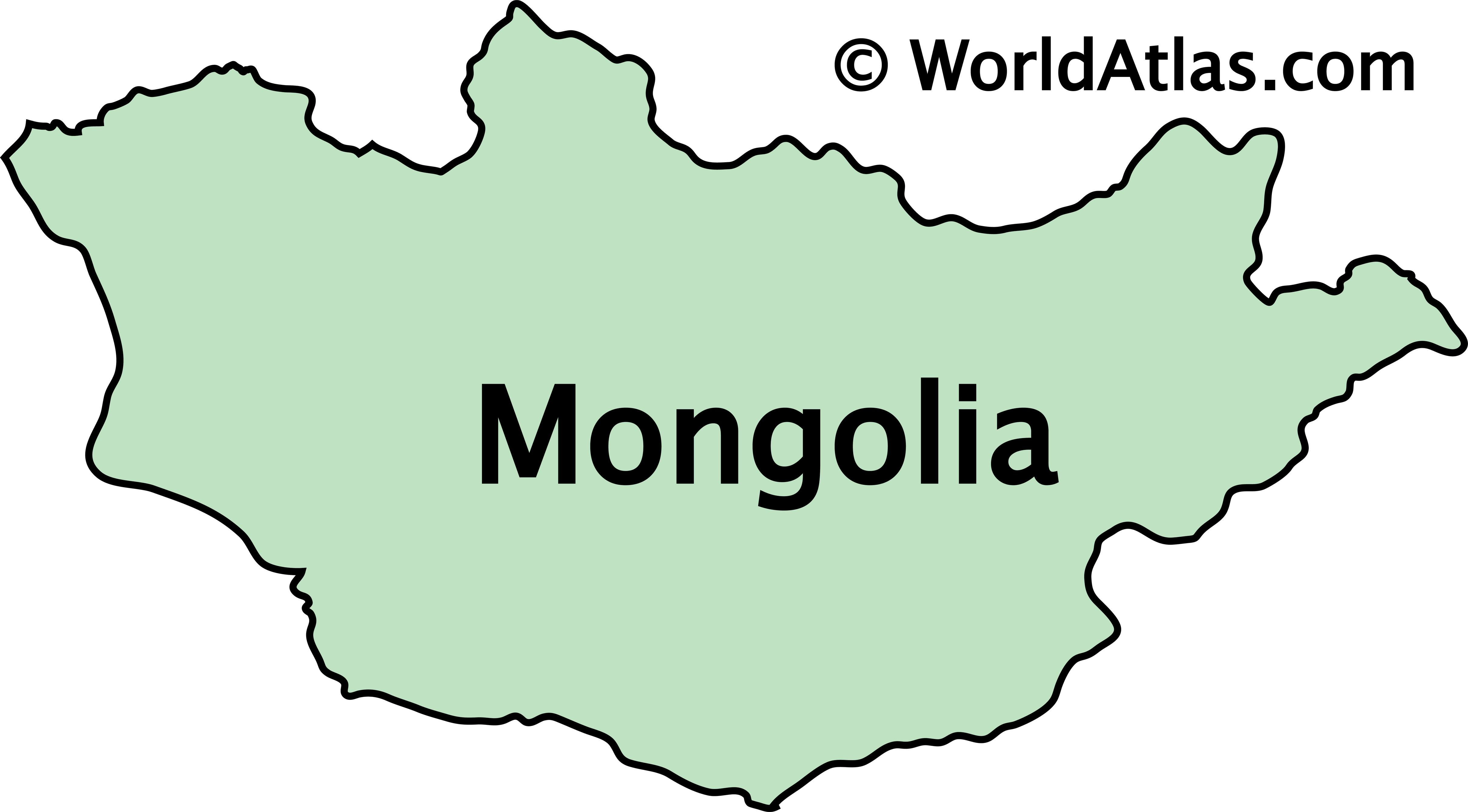 Outline Map of Mongolia