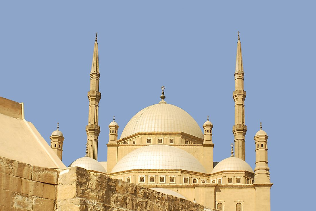 A mosque in Cairo, Egypt. Islam is a popular religion throughout much of Africa.