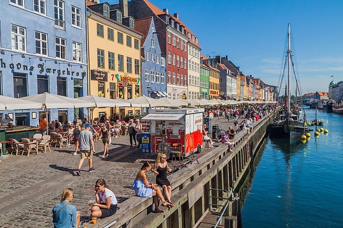People in Copenhagen, Denmark. Editorial credit: Matyas Rehak / Shutterstock.com.