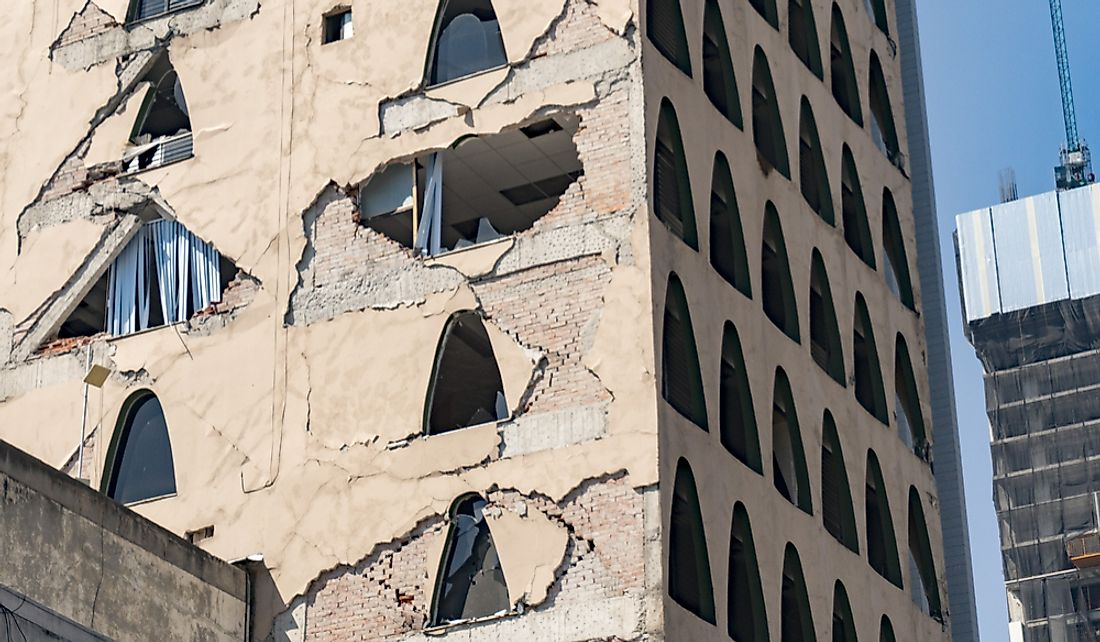 The 2017 earthquake caused significant damage in Mexico City.