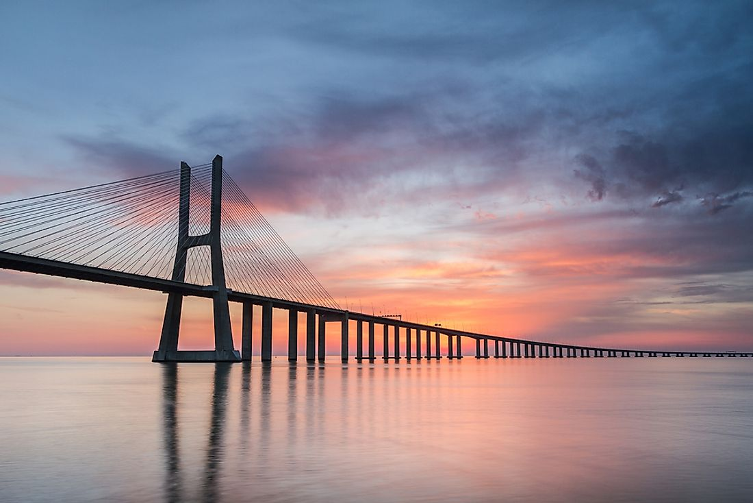 The Vasco da Gama Bridge is the longest in Europe.