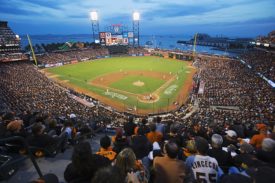 AT&T Park in San Francisco. Editorial credit: Joseph Sohm / Shutterstock.com.