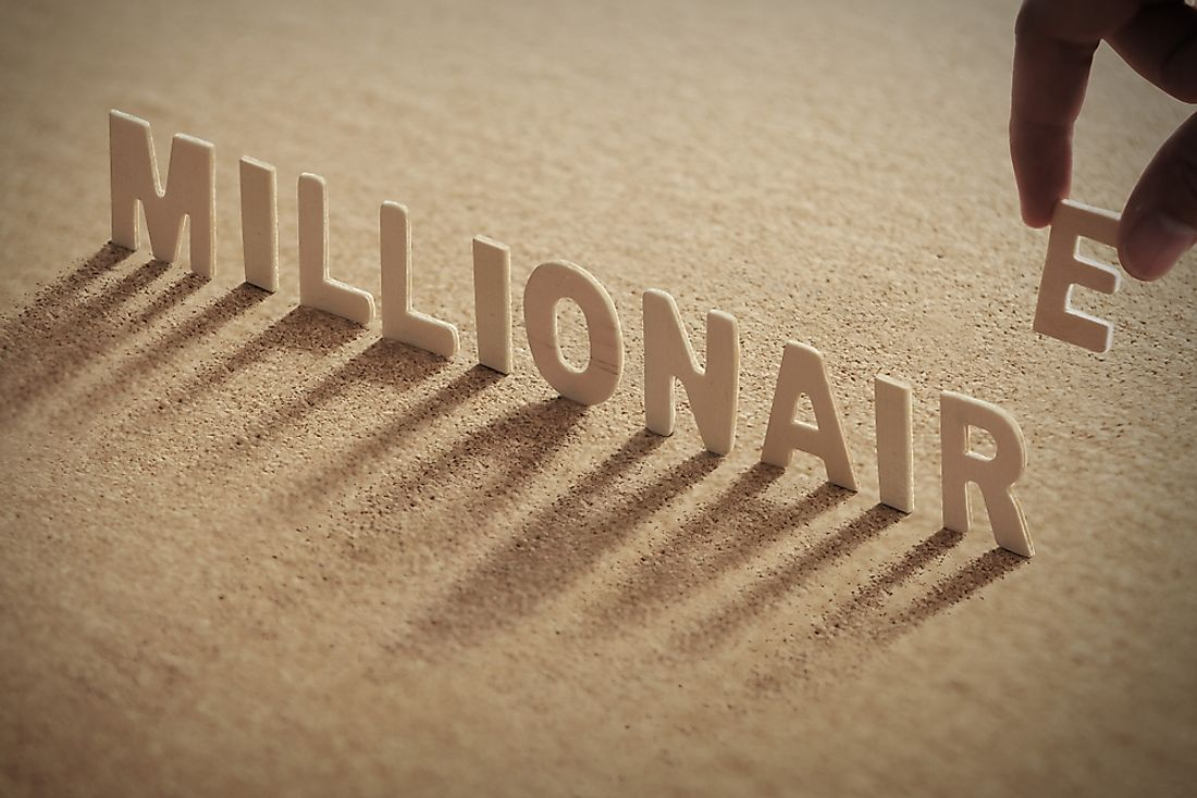 Which country has the most millionaires?