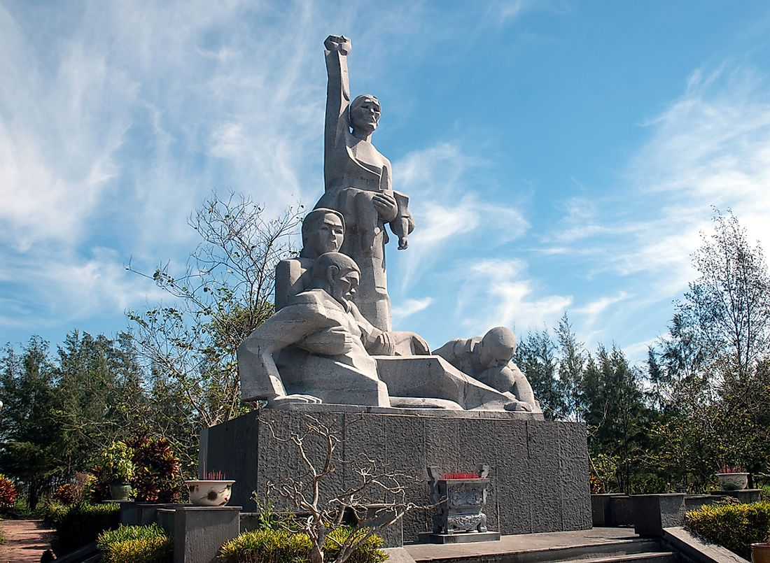 A memorial to the My Lai Massacre. Editorial credit: thi / Shutterstock.com.
