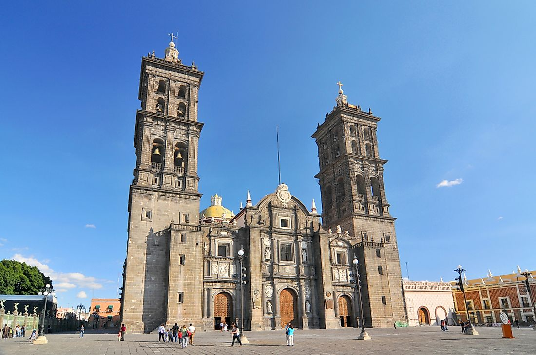 One of the many Roman Catholic cathedrals in Mexico.