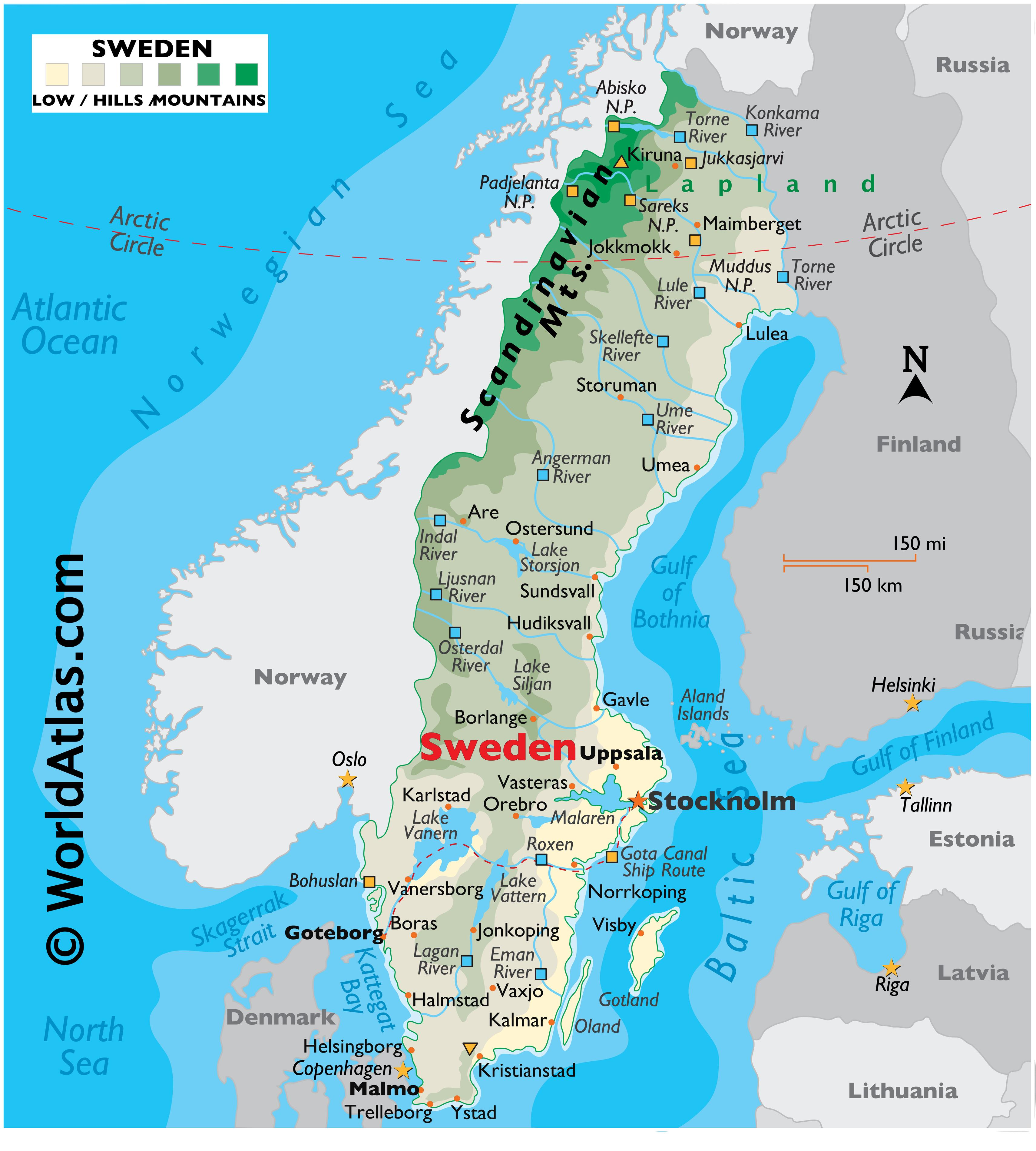 Image of: Sweden Maps Facts World Atlas