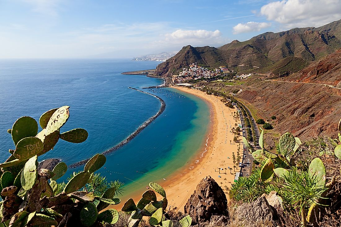 A beach on the island of Tenerife.