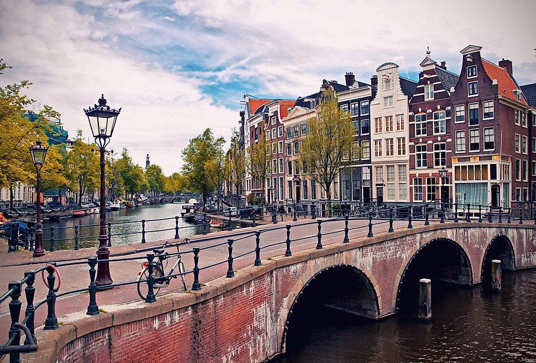 Amsterdam and its famous canals.