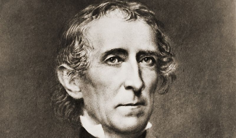 Portrait of John Tyler.