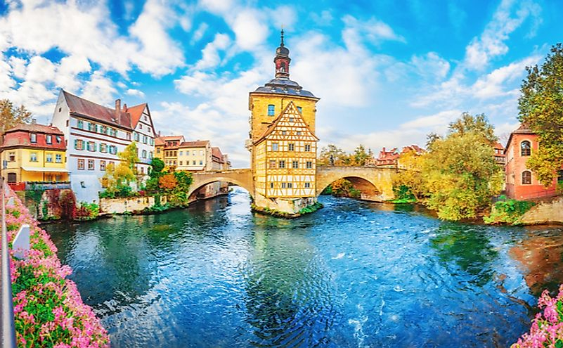 Old town Bamberg in Bavaria, Germany.
