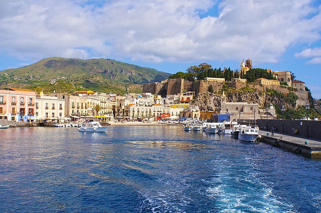 Lipari is the largest of the Aeolian Islands.